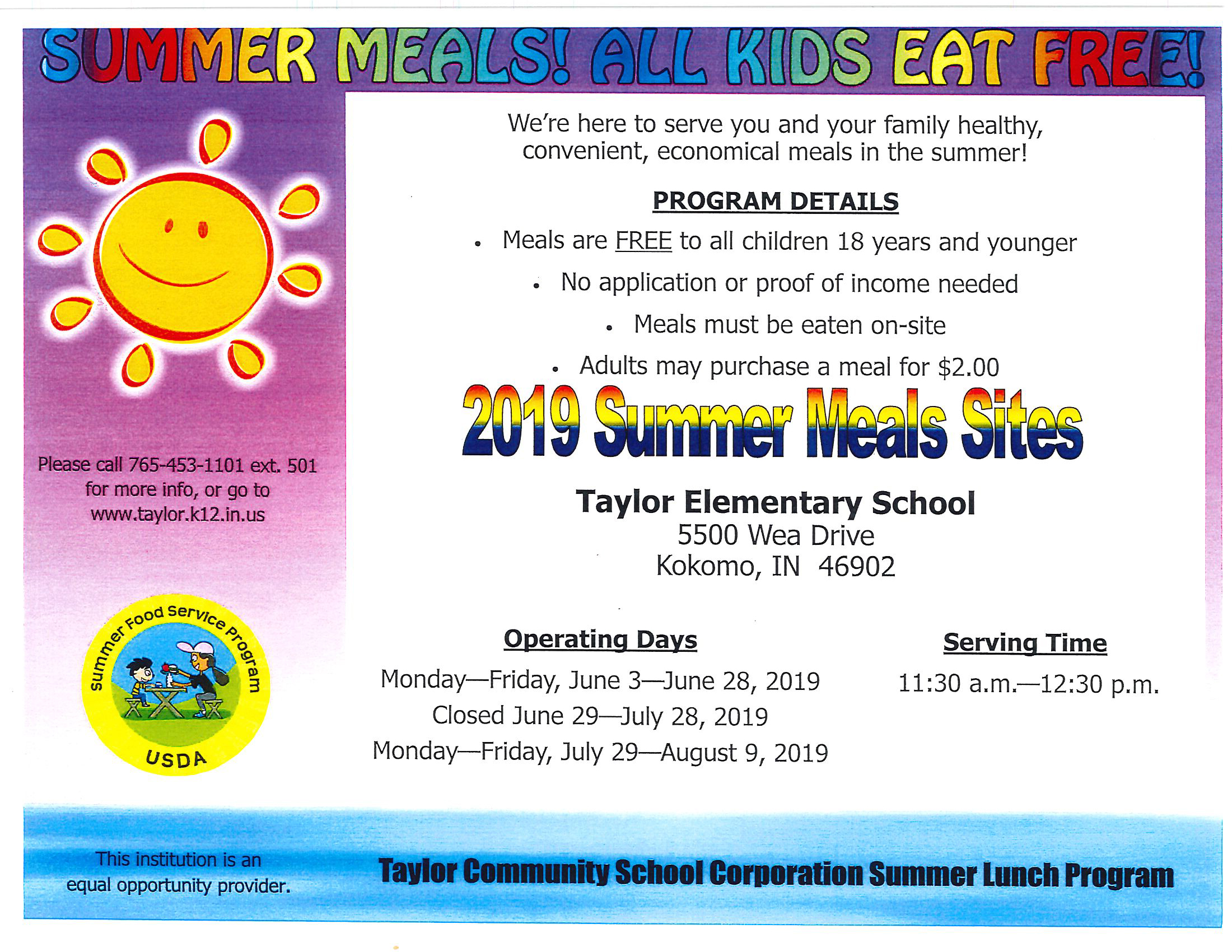 Summer Meal 2019